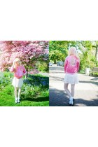 hot pink Vintage Disney Varsity Jacket jacket - light pink Forever 21 dress