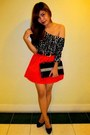 Black-aldo-shoes-black-h-m-dress-hot-pink-h-m-skirt