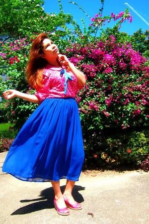 thrifted skirt - random brand blouse