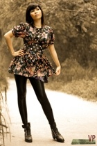 Cintura belt - Miss Sixty shoes - vintage dress - blingfinds tights