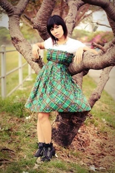 DIY shirt - dress - Miss Sixty boots