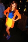 Blue-random-brand-dress-carrot-orange-fasyonablemultplycom-blazer-yellow-ran