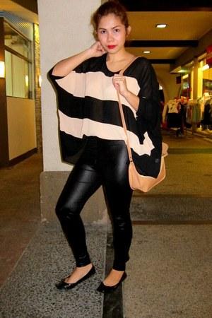 nude Greenhills blouse - black Zara leggings