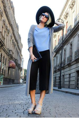 c&a pants - H&M hat - Prada glasses - Forever 21 t-shirt - c&a heels