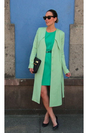 & other stories coat - Forever 21 dress - Zara bag - Ray Ban sunglasses