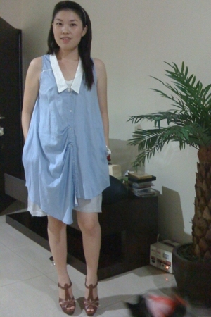 random from Hong Kong dress - Barbara Bui shoes