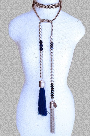 glass silver OPA Designs necklace