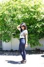 Navy-forever-21-jeans-dark-khaki-cheetah-print-thrifted-top