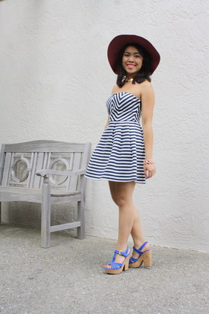 Mint by Goorin hat - Forever 21 dress - Dolce Vita wedges