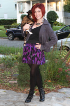 random brand from Loehmans jacket - Target t-shirt - f21 skirt - payless boots -