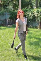 ann taylor vest - f21 t-shirt - Dollhouse jeans - Dr Martens boots - necklace -