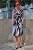 Betsey Johnson dress - Target shoes - thrifted sunglasses - handmade earrings -