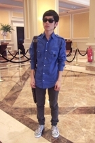 Topman shirt - Cheap Monday jeans - Puma shoes - Louis Vuitton
