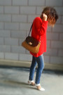 Red-knit-h-m-sweater-skini-zara-jeans