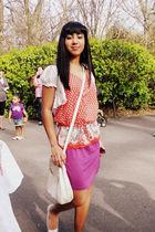 Target shirt - Target skirt - Goodwill purse