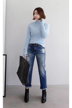 black MIAMASVIN jeans - light blue MIAMASVIN sweater