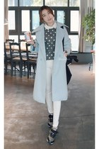 light blue MIAMASVIN coat - white MIAMASVIN jeans