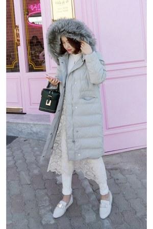 ivory MIAMASVIN dress - silver MIAMASVIN coat