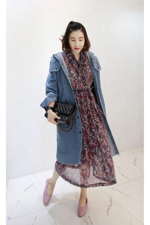 light purple MIAMASVIN dress - sky blue MIAMASVIN jacket