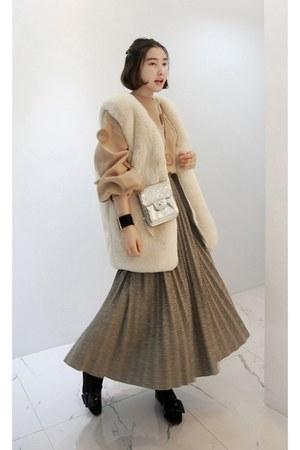 light brown MIAMASVIN skirt - eggshell MIAMASVIN vest