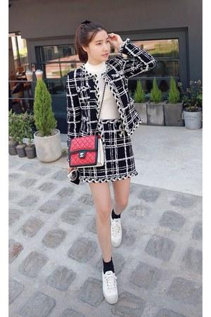black MIAMASVIN jacket - ivory MIAMASVIN skirt