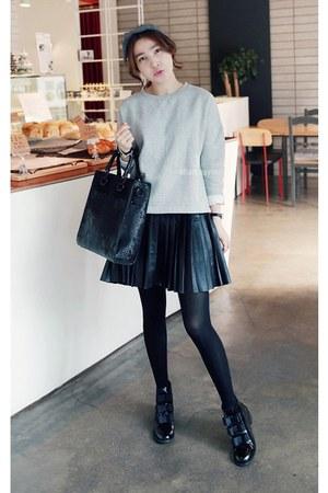 black MIAMASVIN boots - heather gray MIAMASVIN dress - MIAMASVIN bag