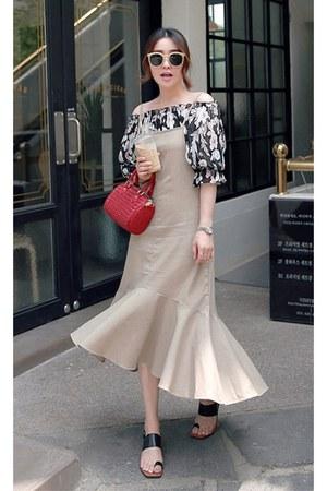 beige MIAMASVIN dress - black MIAMASVIN flats