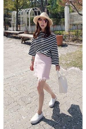light pink MIAMASVIN skirt - black MIAMASVIN top - white MIAMASVIN sneakers