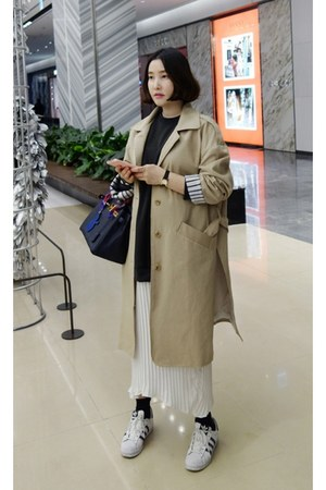 black MIAMASVIN dress - dark khaki MIAMASVIN coat