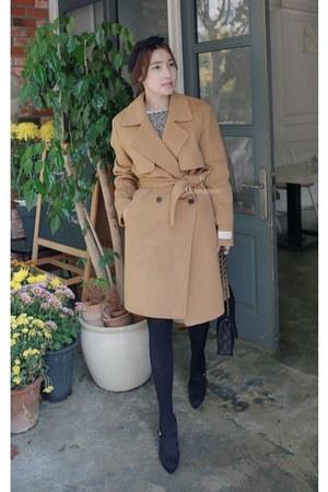 bronze MIAMASVIN coat - black MIAMASVIN heels