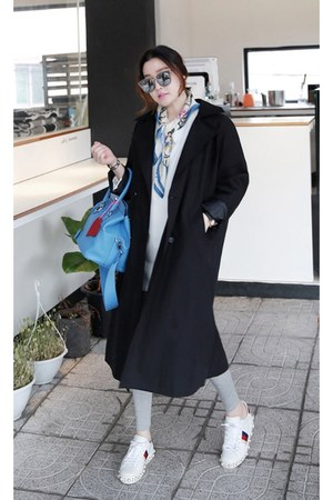 black MIAMASVIN coat - silver MIAMASVIN pants