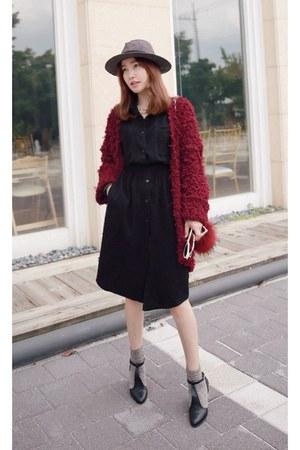 crimson MIAMASVIN cardigan - black MIAMASVIN heels