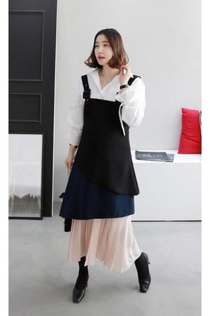 peach MIAMASVIN dress - black MIAMASVIN heels