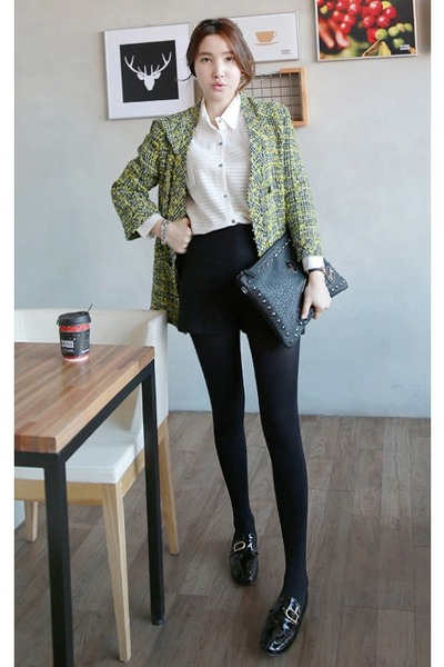 olive green MIAMASVIN jacket - MIAMASVIN tights - MIAMASVIN bag