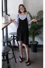 Black-miamasvin-dress-white-striped-blouse-miamasvin-top