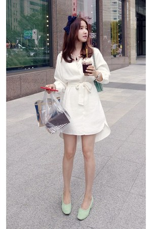 white MIAMASVIN dress - lime green MIAMASVIN heels