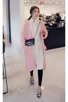 light pink MIAMASVIN cardigan - black MIAMASVIN flats