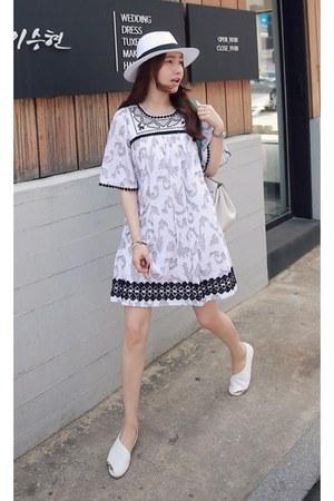 black MIAMASVIN dress - white MIAMASVIN flats