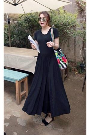 black MIAMASVIN dress - MIAMASVIN sandals