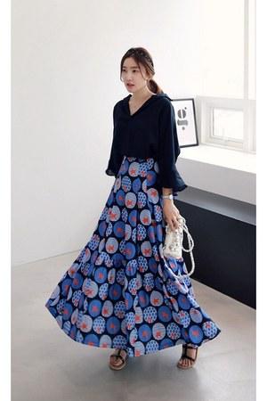 blue MIAMASVIN skirt - black MIAMASVIN top