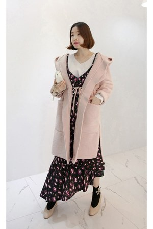 black MIAMASVIN dress - light pink MIAMASVIN coat