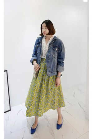 navy MIAMASVIN top - light yellow MIAMASVIN skirt