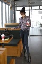 black ankle MIAMASVIN boots - navy skinny MIAMASVIN jeans