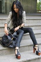 Givenchy bag - sass & bide jeans - sass & bide jacket - Jeffrey Campbell heels
