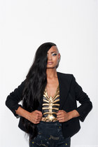 navy panther print Givenchy leggings - black Givenchy blazer
