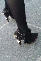 black Topshop shoes