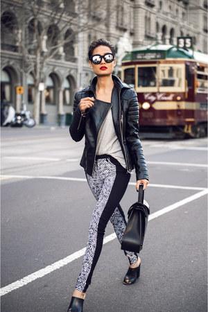 black paneled Kookai jeans