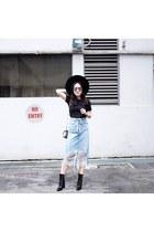Zara skirt - Zara boots - asos t-shirt