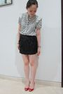White-m-by-mj-shirt-black-topshop-skirt-red-cl-shoes
