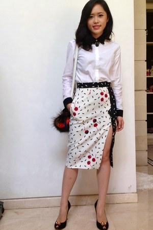 sretsis skirt - Sophia Webster shoes - senada top - Fendi accessories